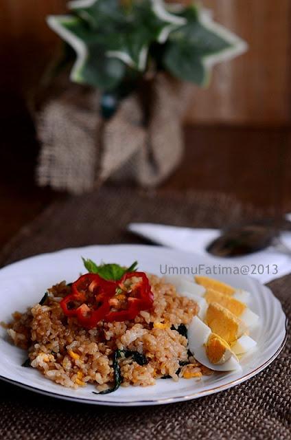 nasi goreng horensho (bayam jepang)