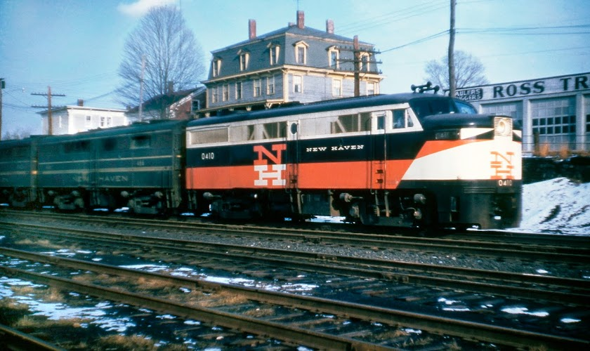 The New Haven Railroad's Norwich and Worcester - 1958 (and more)