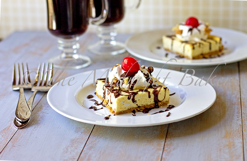 The Midnight Baker: Banana Split Cheesecake Bars
