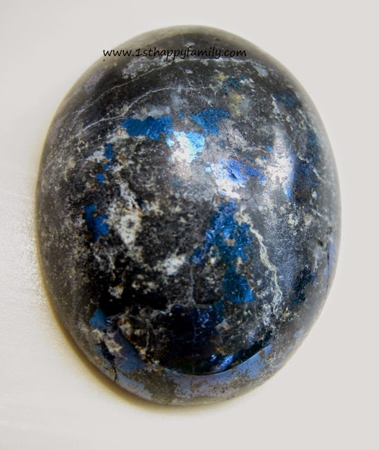 Black blue stone