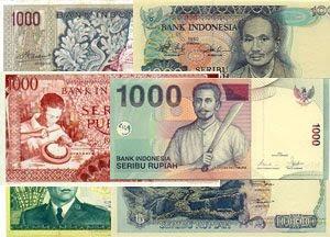 Foto Uang Kertas 1.000 Rupiah Jaman Dulu