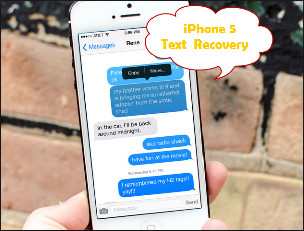 iphone 5 text recovery