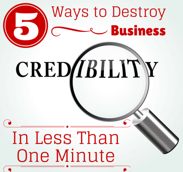 5 Ways to Destroy Business Credibility in Less Than One Minute