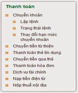 Cách Thanh Toán Cước Internet FPT Bằng Internet Banking Vietcombank 1