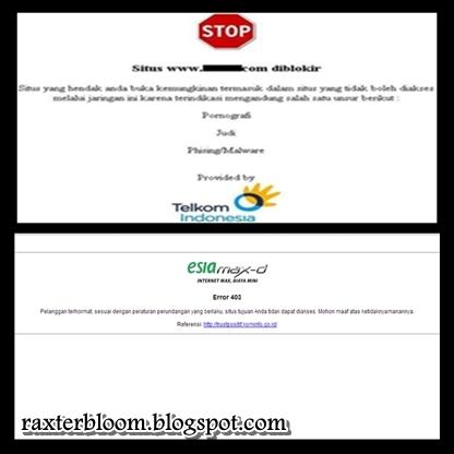 Cara Terbaru Membuka Situs yang Diblokir XL, Telkomsel, Esia, Telkom Flexi, Three/Tri, dan lain-lain - raxterbloom.blogspot.com