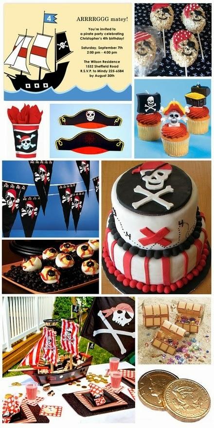 tema festa menino infantil aniversário piratas