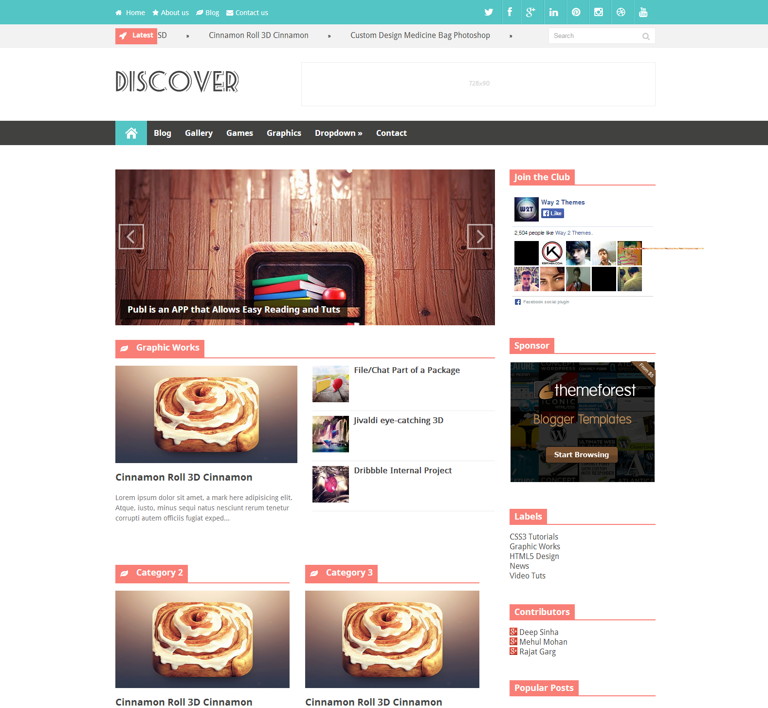 Share Discover Responsive Blogger Template