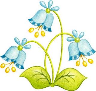 Flor De Color Azul Amarillo Y Verde