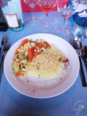 Egitto Cous Cous allo zafferano in panna acida con verdure alla julienne