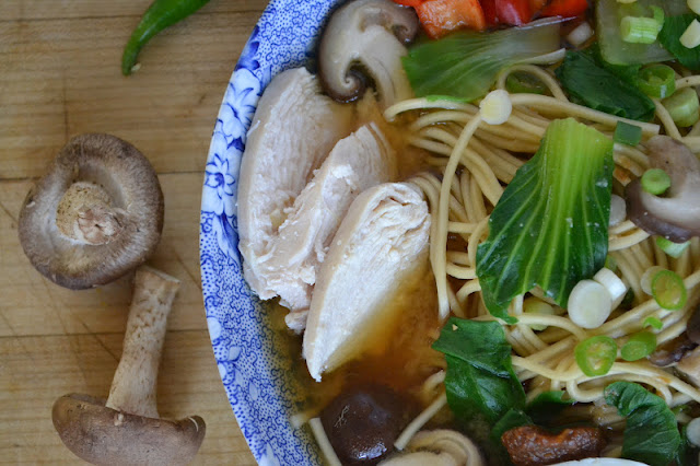 Miso Ramen with Shitake and Chiciken is a quick and easy 30-minute meal