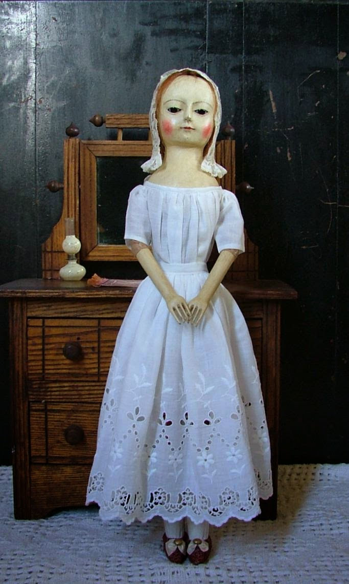 "Faith, 18"" Queen Anne Wooden Doll"