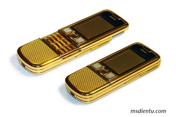 Nokia 8800 gold sang trọng, lịch lãm