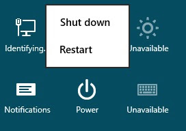 Shutdown and Restart Windows 8