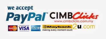 Kami Terima Bayaran Melalui PayPal