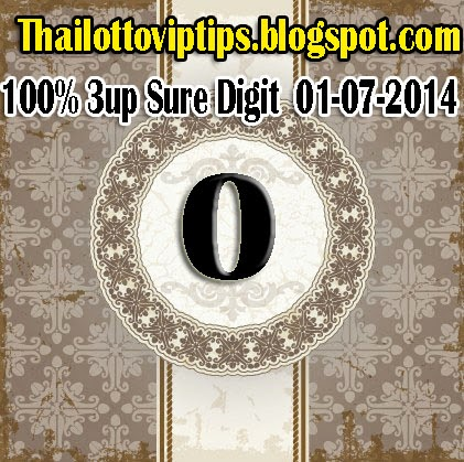 Thai Lotto 100% Sure Digit 01-07-2014
