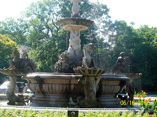 Mermaid fountain at the Bronx Zoo