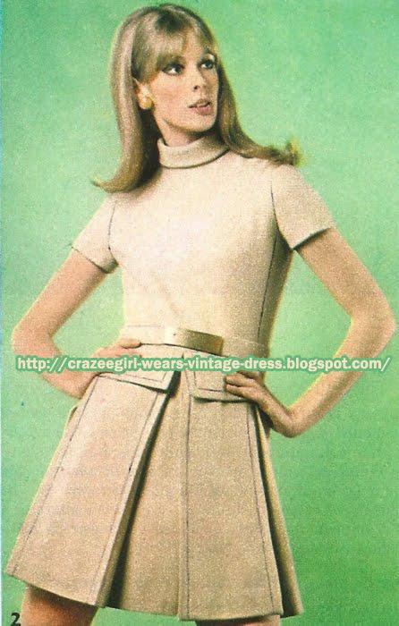 Beige wool skirt suit  - Mendès pour Castillo 1967 60s 1960