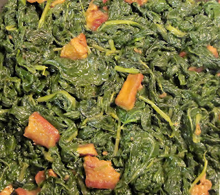 southern style greens with fatback