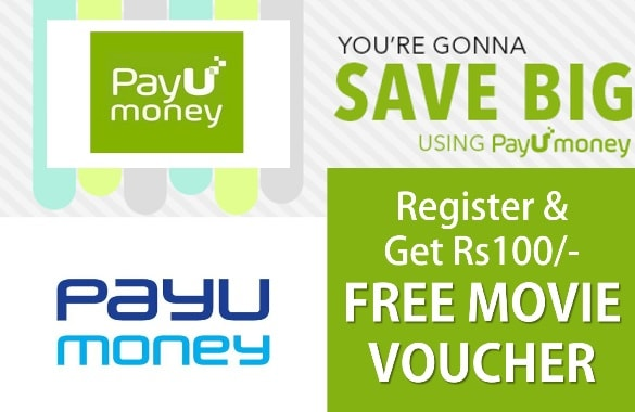 Payumoney Earn - Register and Get Rs 100 Free Movie Voucher