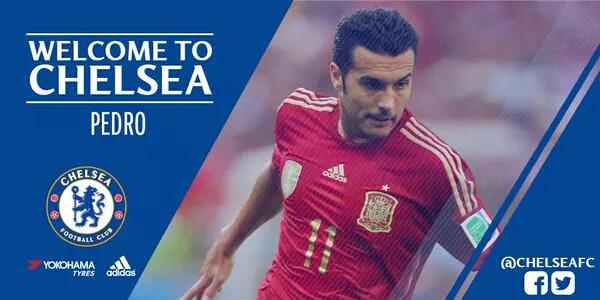 OFICIAL: Pedro Rodriguez é novo jogador do Chelsea