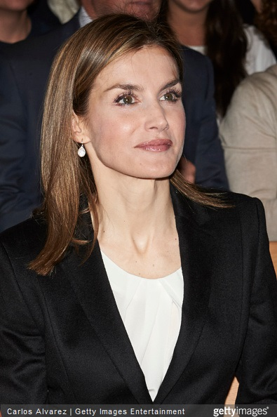 Queen Letizia of Spain attends the Princess of Girona Awards at the Residencia de Estudiantes on April 9, 2015 in Madrid, Spain.