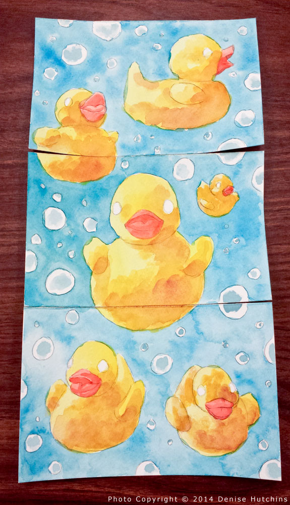 Rubber Ducky Painting, Ducks and Background Painted