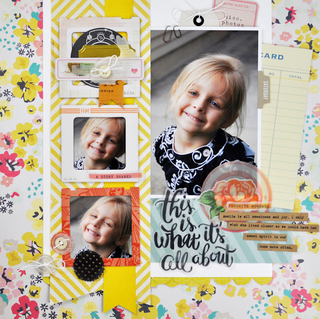 This is What Life is All About Scrapbooking Process Video by Jen Gallacher found at www.jengallacher.com