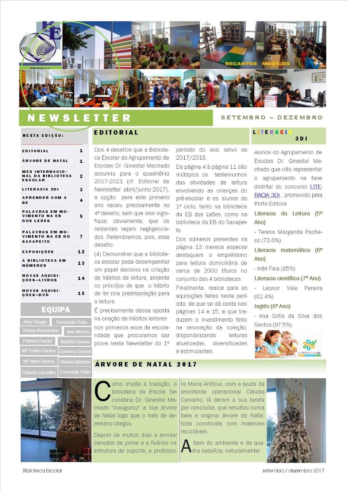 Newsletter BE SETEMBRO-DEZEMBRO