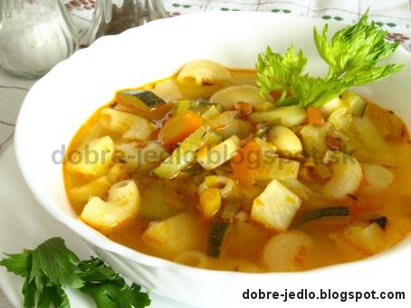 Polievka -  Minestrone - recepty
