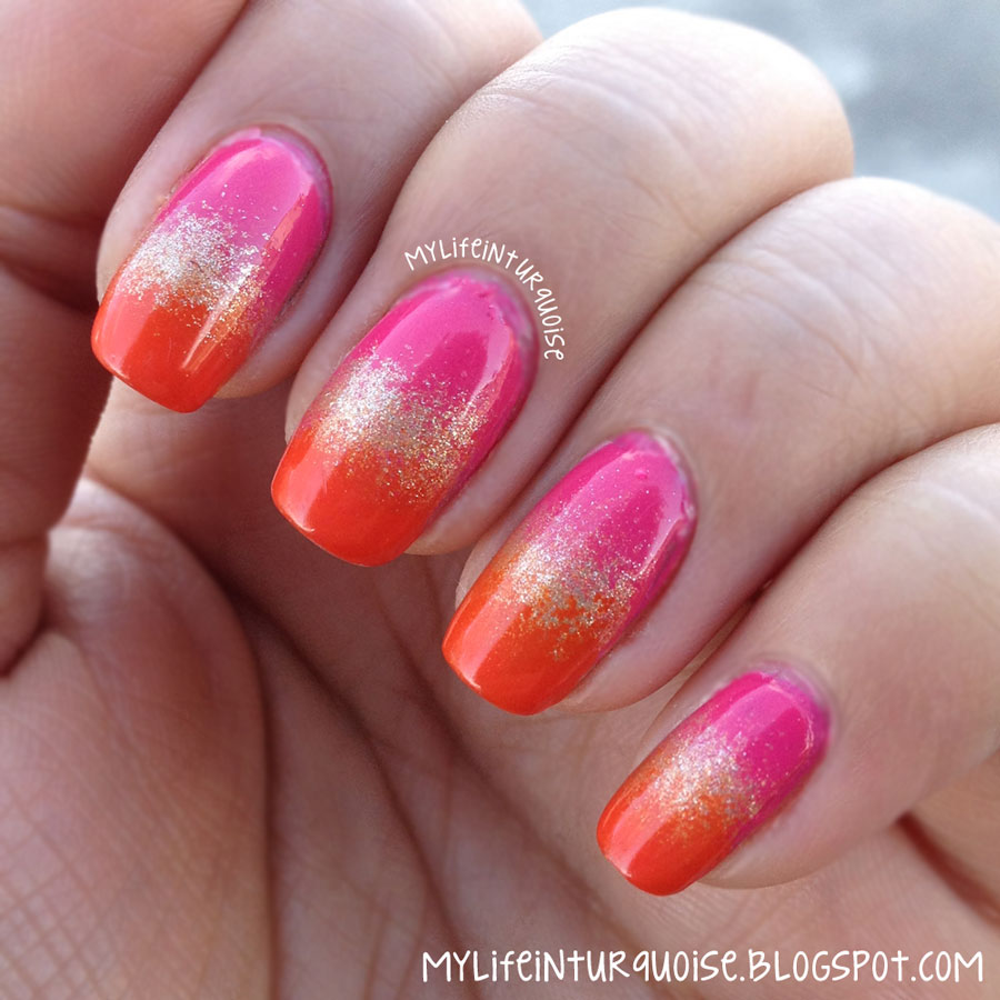 Orange gold nail art nail designs orange and gold art design view images my life in turquoise indian gradient nail art prinsesfo Choice Image