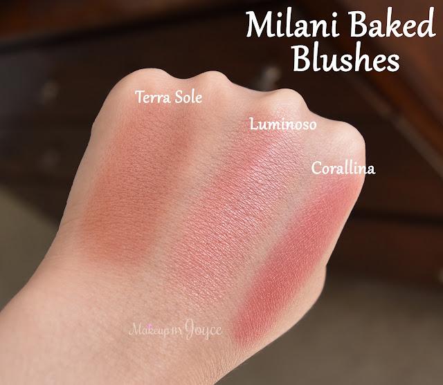 Milani Corallina vs Luminoso Swatches