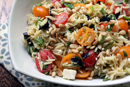 ... Life: What's On the Side: Orzo Salad with Tomato, Basil, and Feta