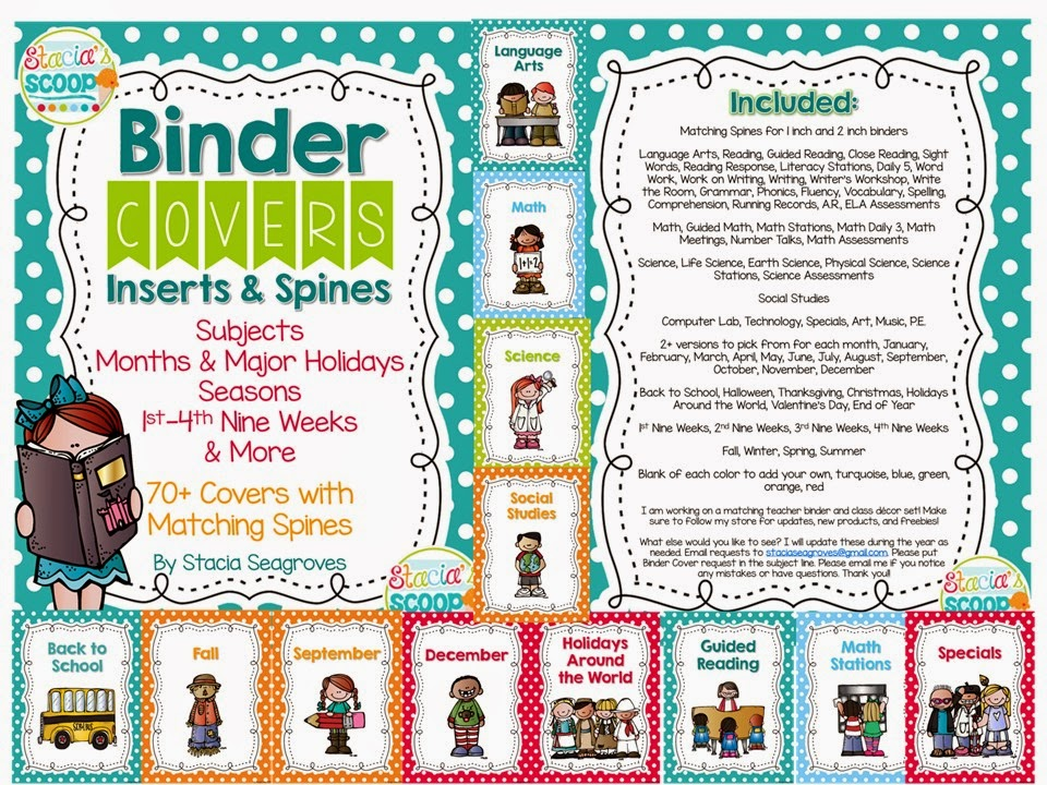 http://www.teacherspayteachers.com/Product/Binder-Covers-Inserts-and-Spines-Organization-in-Turquoise-Dots-1370654