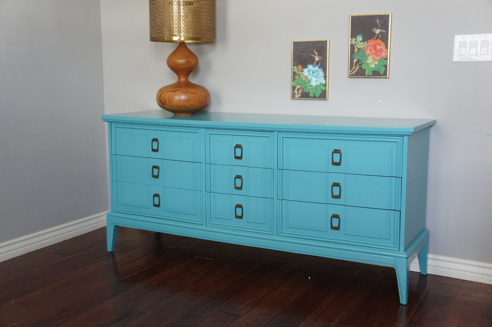 european paint finishes vintage modern blue dresser