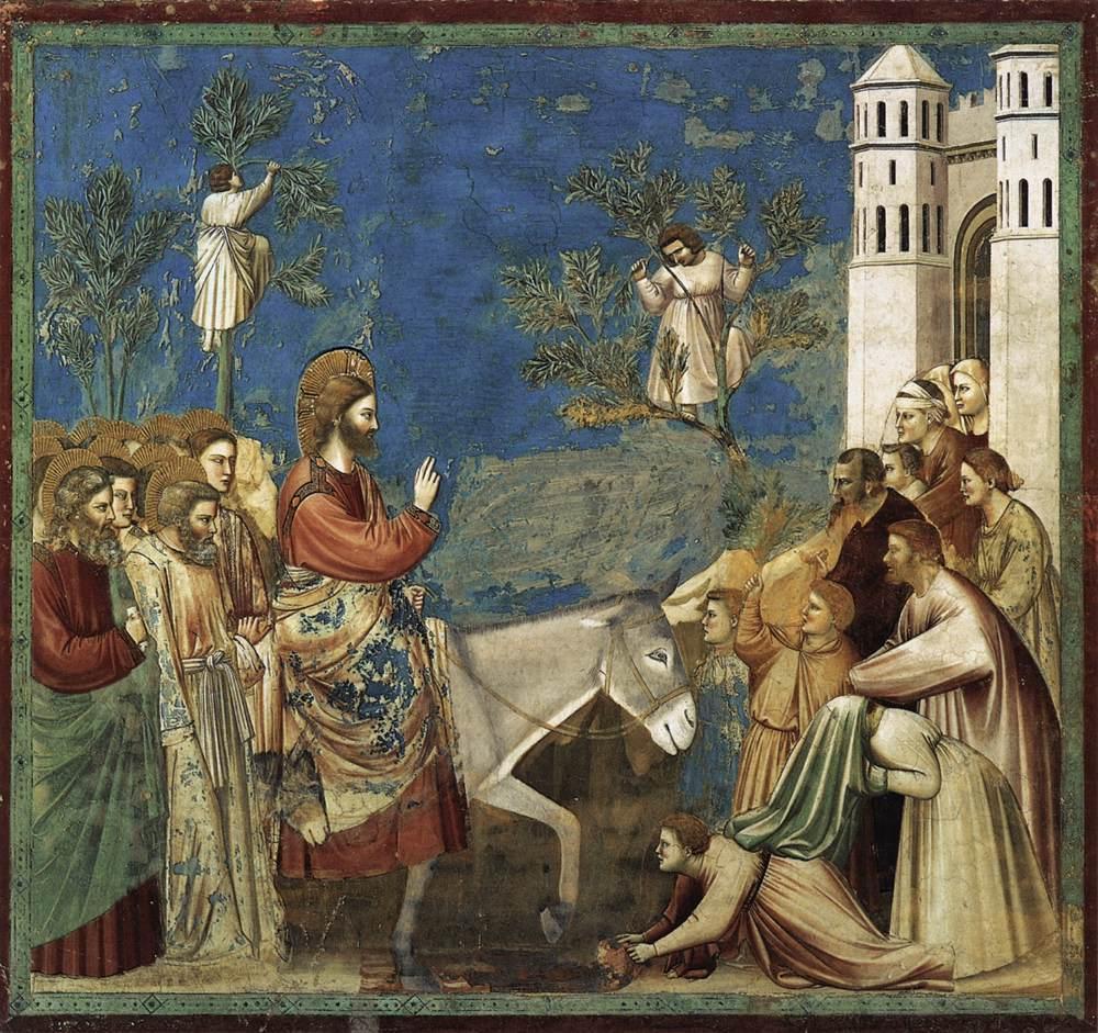 Imagen del Domingo de Ramos. Jesús entra en Jerusalén triunfante
