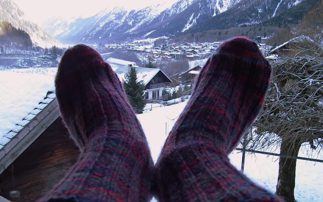 rib, DK, socks, knit, chamonix