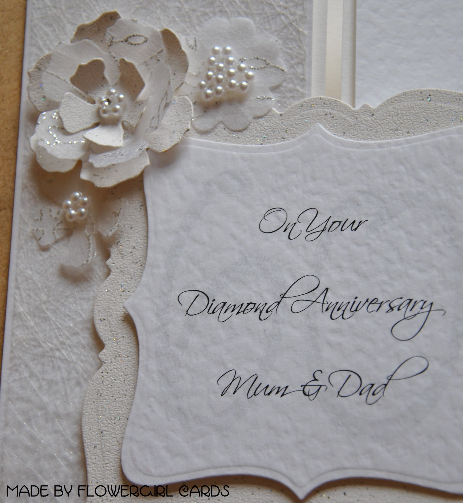 60th Wedding Anniversary Card Making Ideas Part - 27: Diamond Anniversary Card