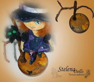 подставка для куклы хеллоуин