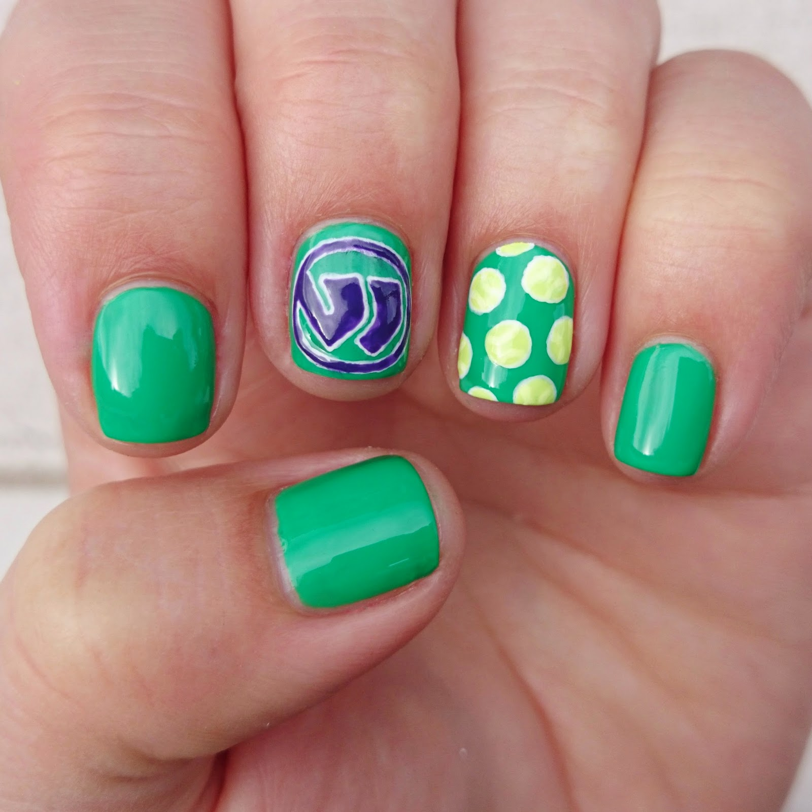 Dahlia nails wimbledon 2014 barry m spring green is the perfect shade to reflect the green lawns of the all england tennis club i added a retro wimbledon logo using our tried and prinsesfo Choice Image