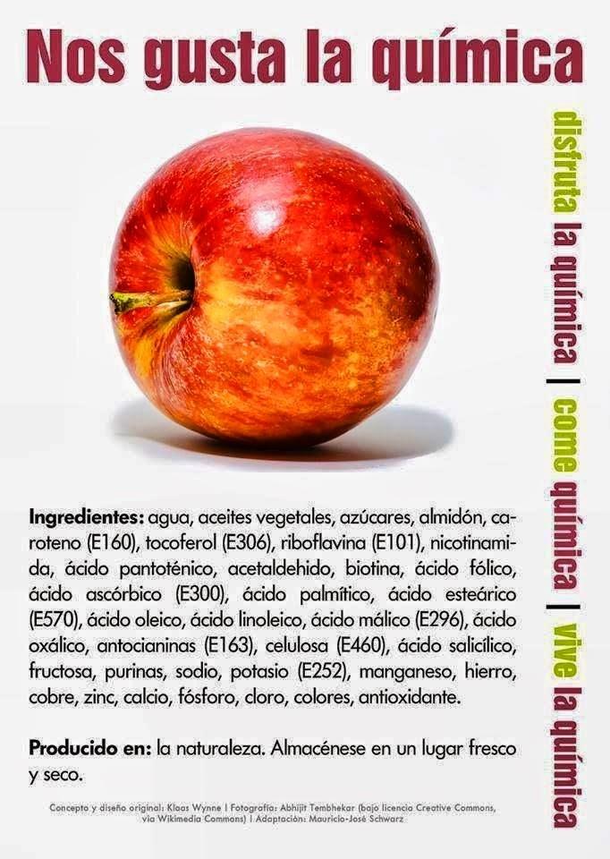 Ingredientes y aditivos manzana