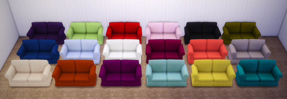 High Quality Hipster Loveseat To Match My Hipster Sofa And Simplicit Ease Chair By  SaudadeSims