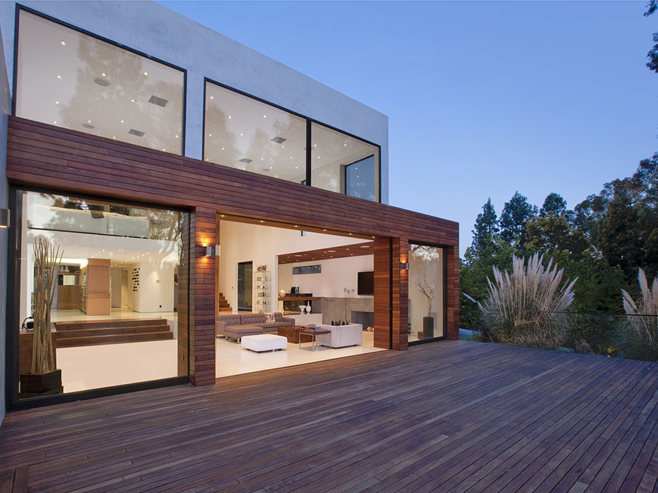 World of architecture modern beverly hills house wood - Casas prefabricadas de hormigon ...