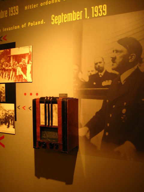 Photo of Adolph Hitler in Canadian War Memorial Museum in Caen, France.