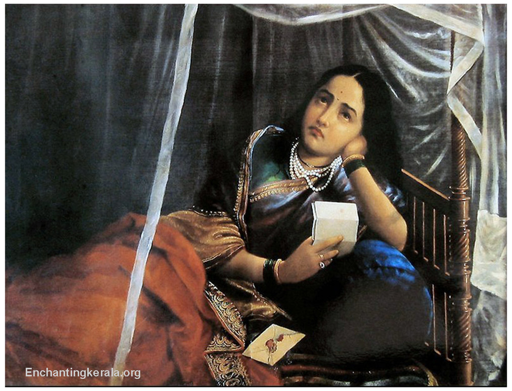 raja ravi varma Kadambari - collection of oil paintings of raja ravi varma (1848-1906), the great artist of kerala, india.