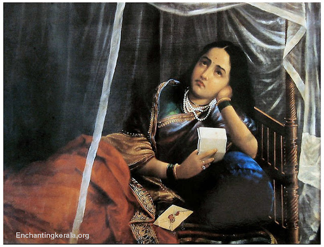Raja Ravi Varma oil Painting|: Women Disappointing
