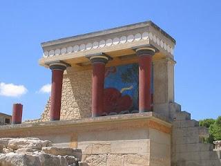 El palacio de Minos en Knossos. Historia de Grecia. Arquitectura griega. Civilizacion egea o cretense. La sabiduria de grecia.