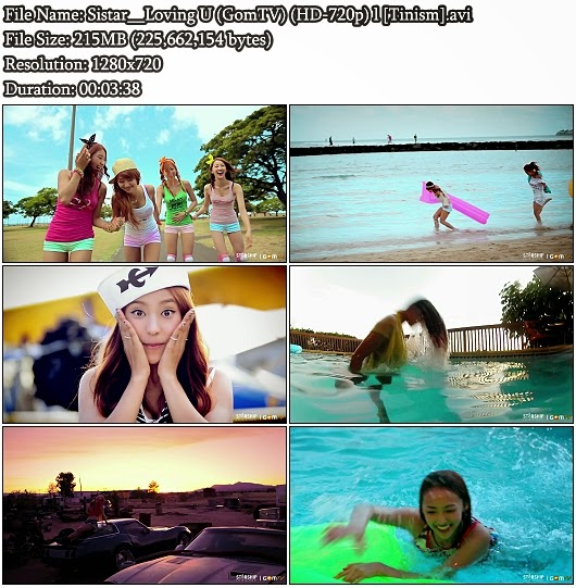 Download MV Sistar (씨스타) - Loving U (GomTV HD 720p)