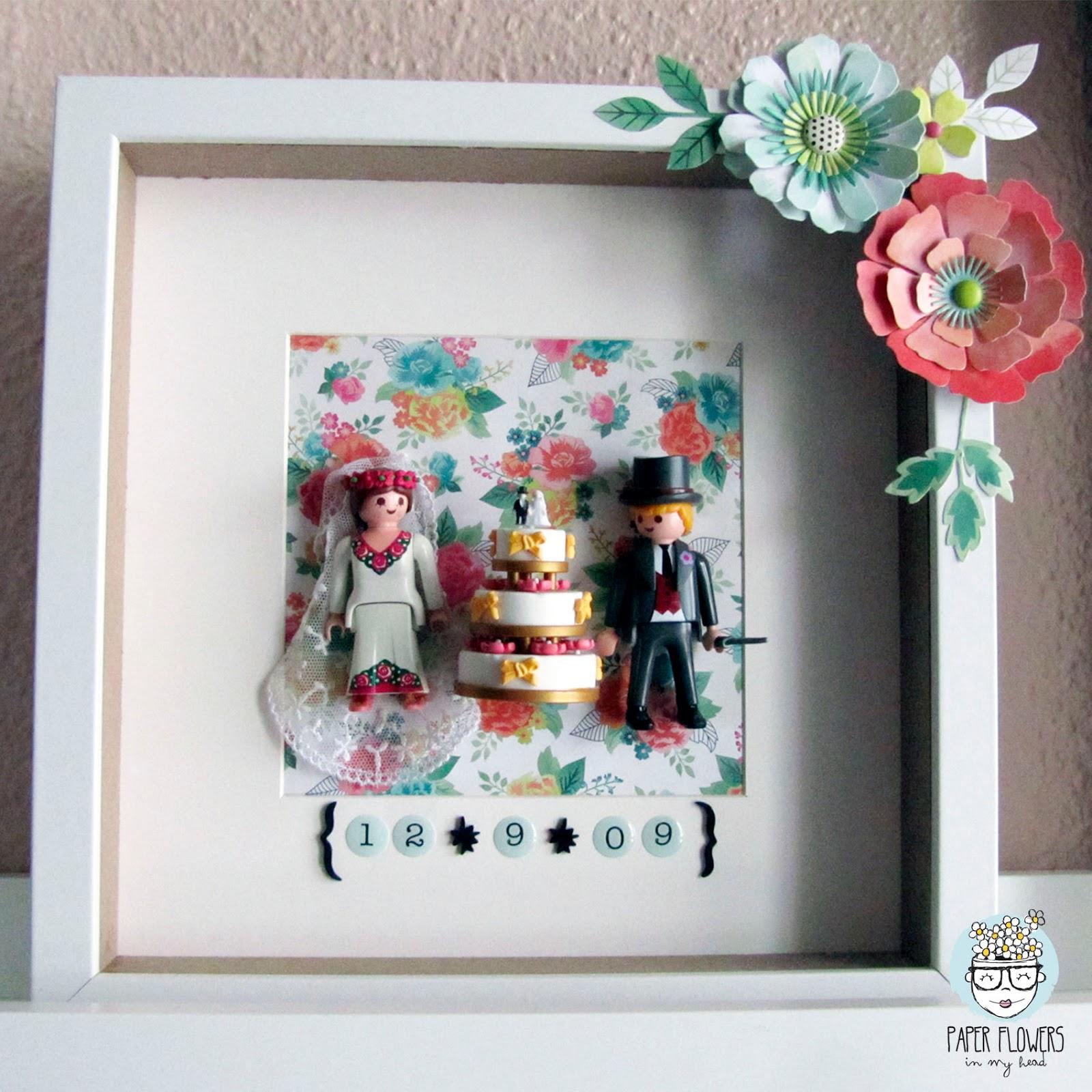 Qu hacer con los mu ecos de la tarta de boda cuadro - Cuadros para habitacion de matrimonio ...