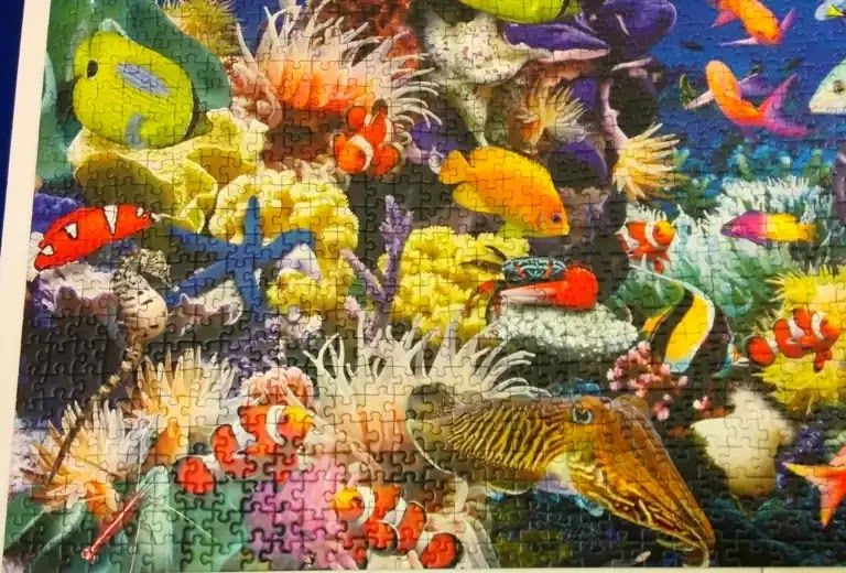 Ravensburger Underwater 2000 piece jigsaw puzzle close-up 3