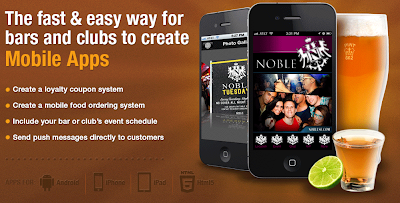 Mobile apps for bars and clubs, at Dovetanet Marketing